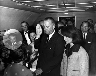 valenti watches as lbj is sworn in after the coup d'état