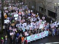 rain didn't stop portland protest