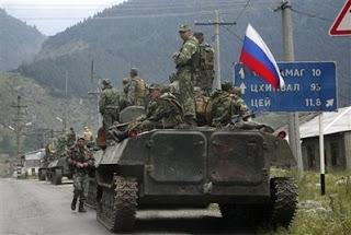 US attacks russia through client state georgia