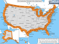 'constitution-free zone' within 100 miles from border