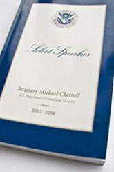 dhs publishes 315-page book honoring chertoff's 'select speeches'