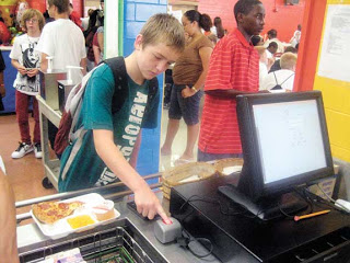 ohio students buy lunch with their fingerprint