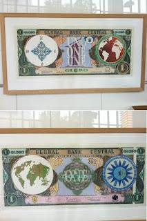 Creepy One World Artwork at the World Bank HQ