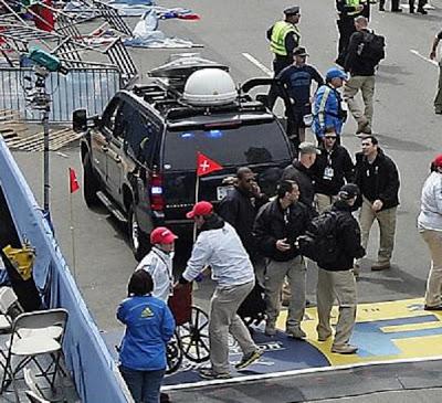 Photo Of Private Military Communications Van At Boston Marathon