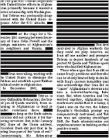 'the politics of redaction'