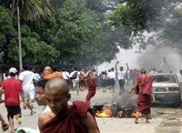 violent crackdown launched in myanmar