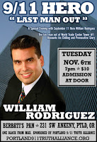 9/11 hero william rodriguez in portland tonight
