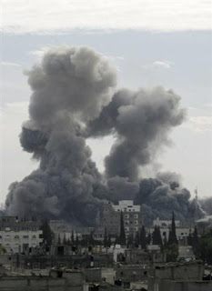 israel kills 208 in air assault on gaza strip