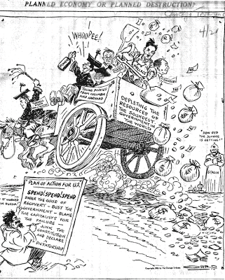 chicago tribune cartoon 1934: planned economy or planned destruction?