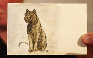 hitler's painting of black cat to be auctioned