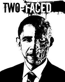 here, this one makes more sense: obama as two-face