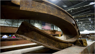 trade center wreckage finds new purpose in memorials