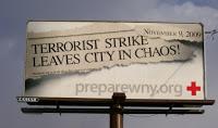 billboards urge preparedness for attack on 11/9/09