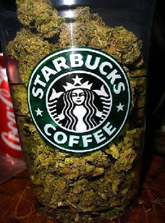 when 70% support marijuana legalization,  starbucks gets the message