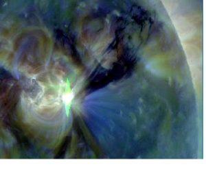 Sunspot #1283: Three Solar Flares Earthbound