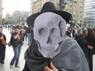 cult mystic holds 'march of skulls' for mexico's drug war dead