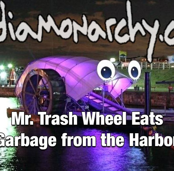 #GoodNewsNextWeek: Mr. Trash Wheel Eats Garbage from the Harbor (Video)