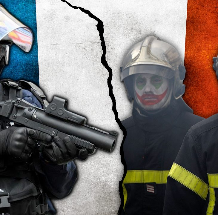 #NewWorldNextWeek: Firefighters Battle Police in the Streets of Paris (Video)
